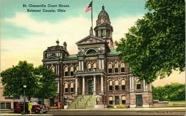 Vtg Lin Carte Postale Belmont Comté Oh St.Clairsville Court Maison - Unp... - $6.94