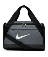 NEW! NIKE BRASILIA XS DUFFEL BAG - TRAVEL - GYM - TRAINING GRAY/BLACK BA... - $22.43