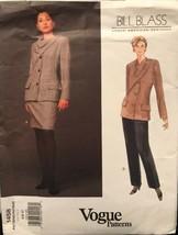 Vogue 1458 Bill Blass Pattern American Designer Jacket/Skirt/Pants Uncut... - $26.43