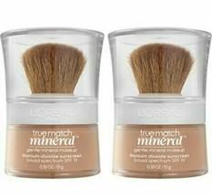 Two (2) L'Oréal Paris ~ True Match Mineral Makeup ~ Nude Beige ~ 460 ~ S... - $29.70