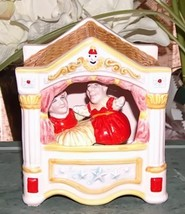 Vintage Schmid Punch and Judy Animated Moving Music Box - $24.99
