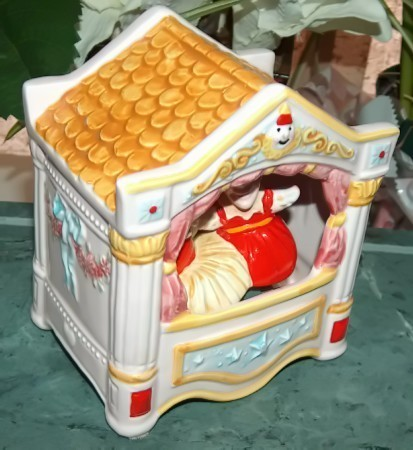 Vintage Schmid Punch and Judy Animated Moving Music Box