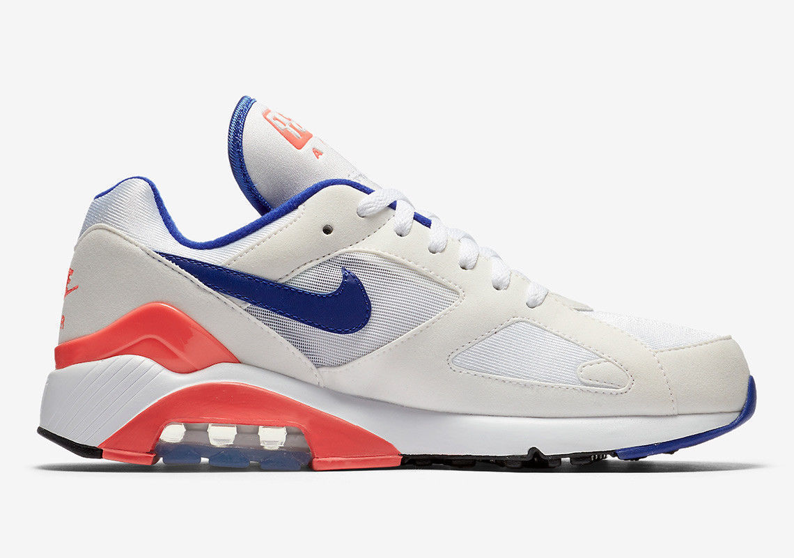new products 7108b 0b97f ... NIKE AIR MAX 180 OG WHITEULTRA-MARINE SOLAR RED MEN SIZE 9.5 NEW ...