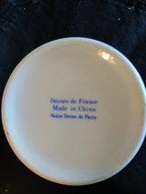 White Creamer Pitcher Blue/White Flowers   Decors de France made China Notre Dam image 4