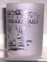 1960'S RETRO HAZEL ATLAS--FROSTED SOUVENIR GLASS NIAGARA FALLS - $8.95