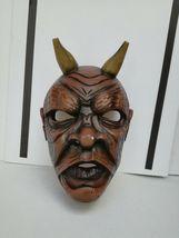 Antique Nikolaus Krampus wood handcarved BLACK FOREST Devil Mask Gothic oddities image 10