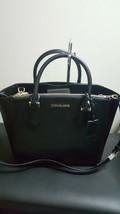 NWT Michael Kors Large Carolyn Leather Tote Black Purse Handbag - $168.29