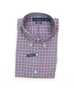 NEW POLO RALPH LAUREN BLUE GREEN PLAID STRETCH POPLIN BUTTON DOWN SHIRT ... - $37.12