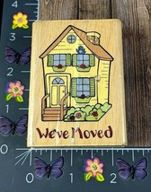 StampCraft We've Moved Rubber Stamp New House Moving Announcement Wood #I72 - $3.22