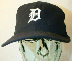 New Ear 59fifty Detroit Tigers D fitted 7 1/4 Black White logo Dad Cap Hat - $19.95