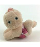 Hug a Bye Baby Doll Plush Stuffed Toy Pink Diaper Vintage 1984 Hallmark - $10.84
