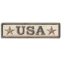 EmbTao Embroidered USA Tactical Morale Fastener Hook&Loop Patch Khaki & Army - $12.99
