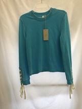 Alternative Apparel Blue Women  Drawstring Sweatshirt Top $62 Medium - $17.01