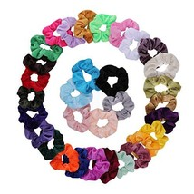 BuySoft 32Pcs Hair Scrunchies Velvet Scrunchies for Hair Elastic Hair Ba... - $11.55