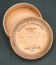 antique WEST GROVE PA APOTHECARY MEDICINE BOX frank houston,mary baker,d... - $42.50