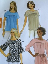 Butterick Sewing Pattern 5356 Ladies Misses Top Sash Size XS-M 4-14 New - $17.14