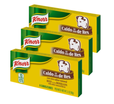 Knorr Beef Flavor Bouillon Cube CUBES - 3 Boxes With 8 Cubes Each - Fast... - $15.59