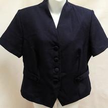Vintage Bedford Fair Jacket Blue Short Sleeve Lightweight Made in USA - $16.65