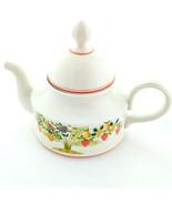 Villeroy & Boch Bon Appetit Tea Pot 7 Inch Cream Floral Porcelain Fruit ... - $79.95