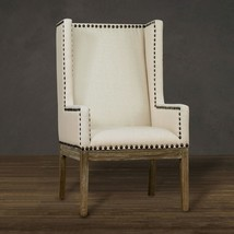 Wingback Chair Contemporary High Back Accent Upholstery Linen Padded Arm... - €383,02 EUR