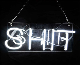 "Handmade 'Shit' Wedding Beautiful Banner Art Light Neon Sign 12""x8"" - $59.00"