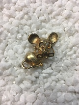 Vintage Avon Signed Small Gold Tone Mouse Rhinestone Eyes & Movable Glasses - $12.00