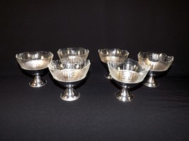 RARE SET OF 6 METAL BASED MACBETH EVANS AMERICAN SWEETHEART SHERBET CUPS... - $79.96