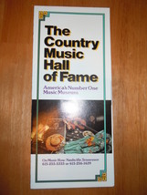 The Country Music Hall Of Fame & Museum Brochure Tennessee 1985 - $5.99