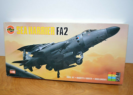 Vintage AIRFIX SEA HARRIER FA2 Model Kit Military Jet Plane 1:48 Scale 1... - $22.92