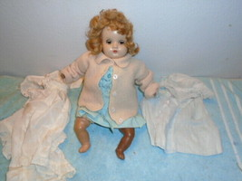 vintage Horseman doll sleepy eyes 16'' with cloths - $29.69