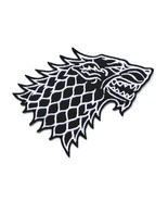 """STARK WOLF IRON ON PATCH 5"""" Embroidered Applique Black White Game of Thr... - $5.99"""