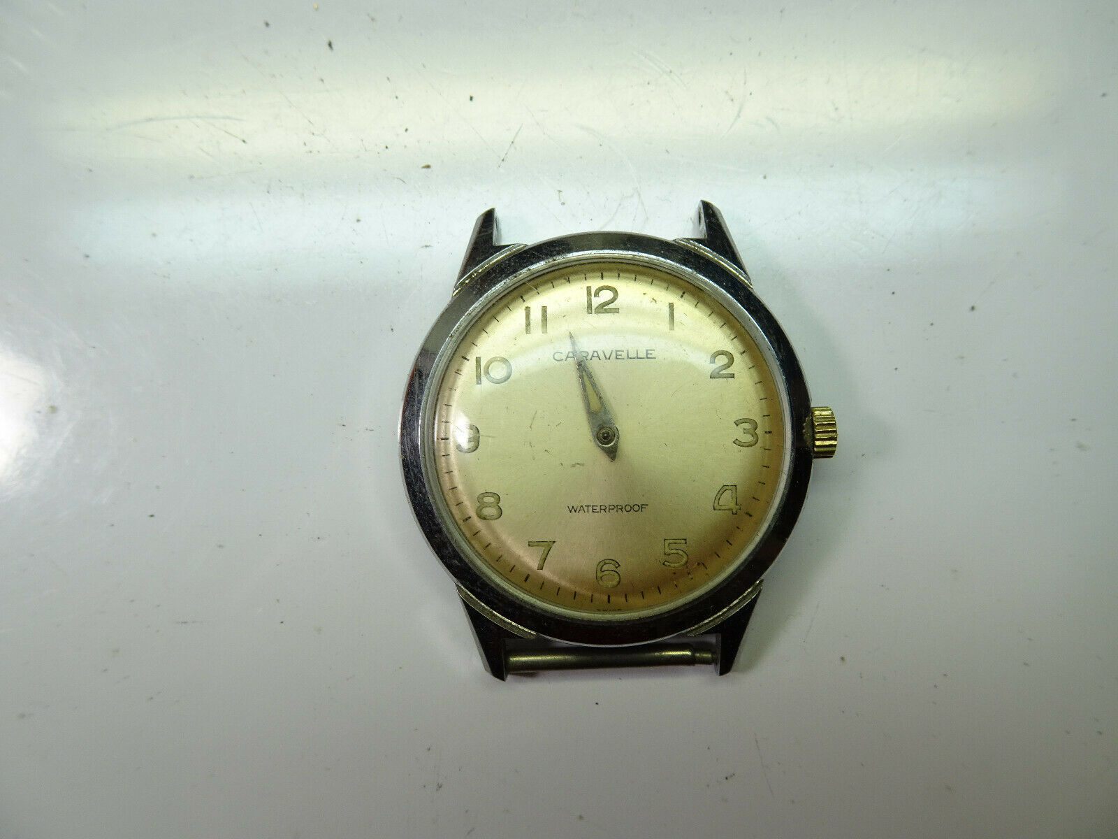 Primary image for 1964 Caravelle 17 jewel waterproof watch runs to restore missing hands