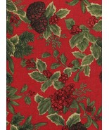 "Ralph Lauren Birchmont Red on Red Tablecloth 104"" Oblong - $38.00"