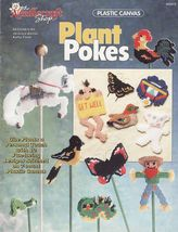 Plastic Canvas Plant Pokes English Cottage Planter Bag Clip Centerpiece ... - $11.99