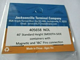 Jacksonville Terminal Company # 405658 NOL 40' Standard Container (N image 2