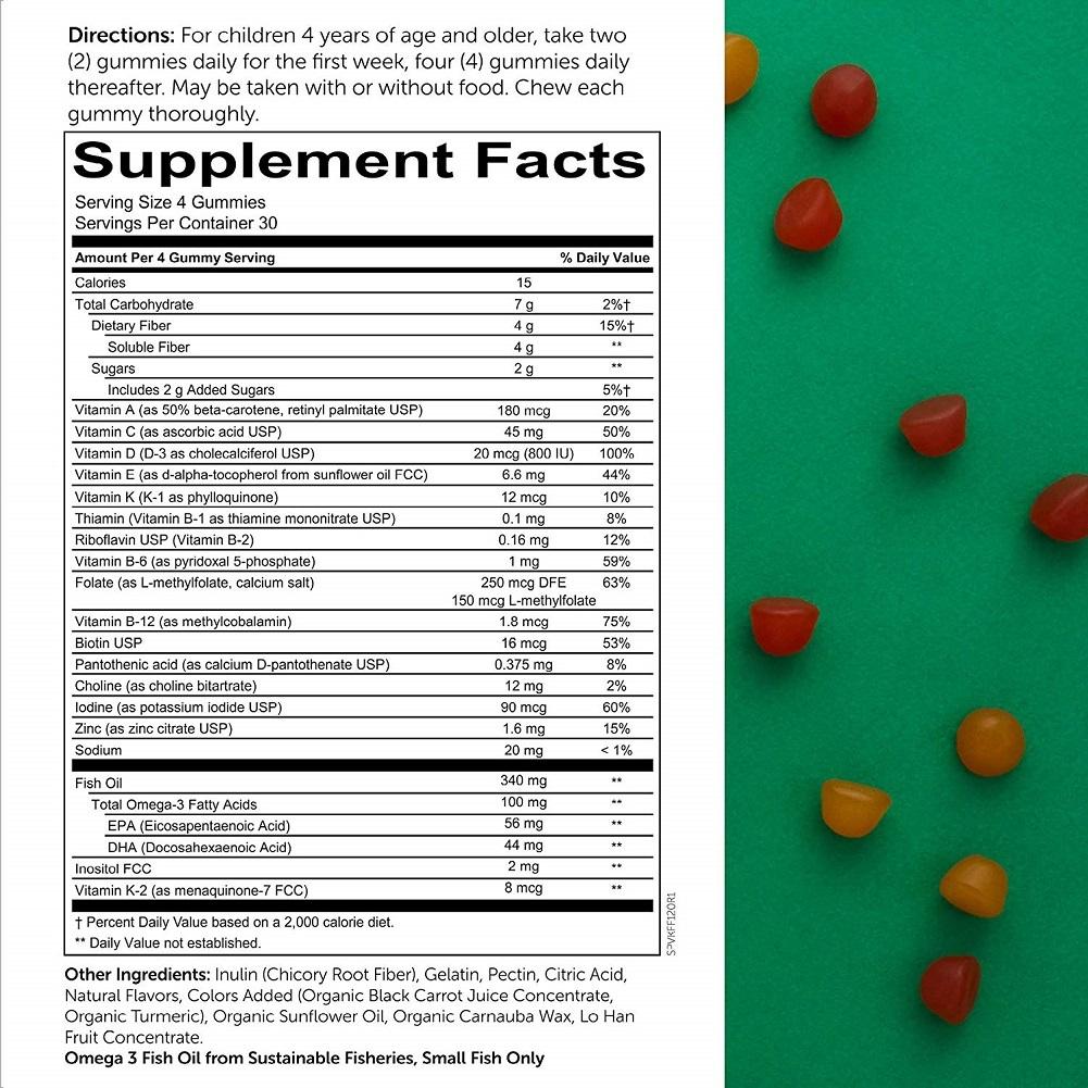 SmartyPants Kids Formula & Fiber Daily Gummy Vitamins ...