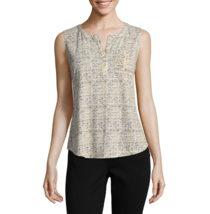 Liz Claiborne Knit Tank Top Size PL, XXL New Sesame Tribal - $14.99
