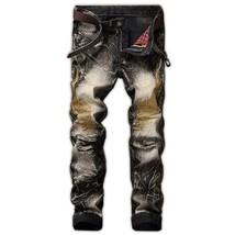 Fashion Jeans Men 2018 New Arrival Casual Trousers Jean Slim Long Pants Men's Hi - $36.72