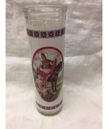 "San Martin Caballero  7"" Glass Candle New  - $9.90"