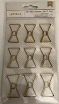 New! American Crafts Details 9 Paper Clips Jumbo Bowties - $9.68