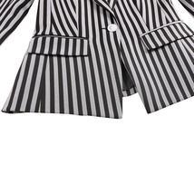 Womens Popular Brand Designer Pinstripe Slim Fit 2 Piece Pants Suit image 6
