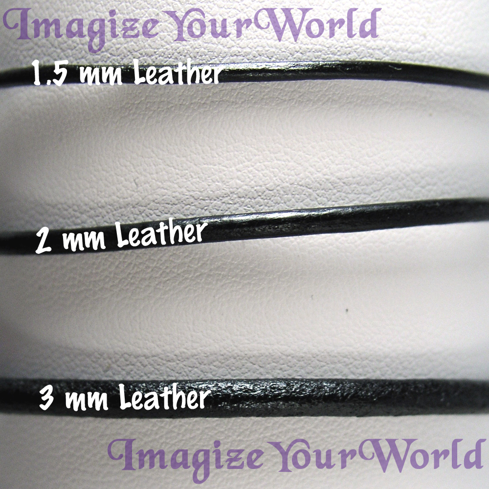 BLACK 2 mm LEATHER Cord WRAP Bracelet / Necklace - 72 inches