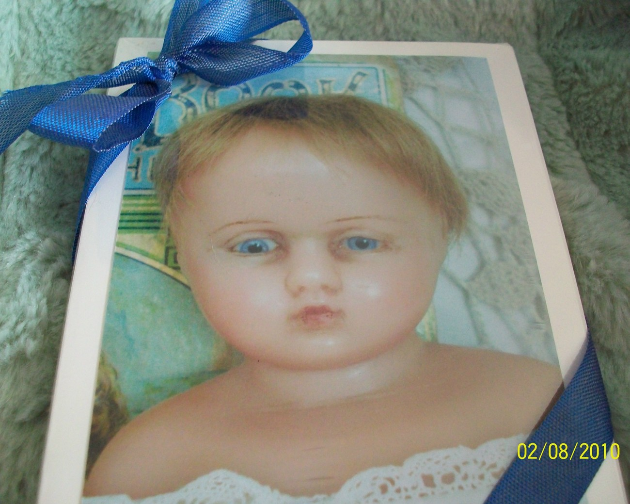 GIFT CARDS ANTIQUE WAX DOLL Bonanza