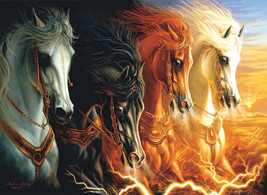 Jigsaw Puzzle 1500 Pieces The Four Horses of the Apocalypse 24 x 33 inch image 1