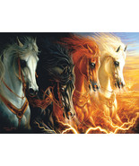 Jigsaw Puzzle 1500 Pieces The Four Horses of the Apocalypse 24 x 33 inch - $10.00