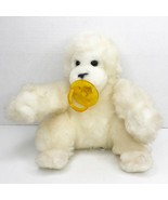 "Vintage Dakin Goo Goo Gorilla 8"" White Plush Stuffed Baby Monkey Pacifie... - $29.69"