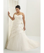 2014 Strapless Wedding Dress / Plus Size Bridal... - $500.63