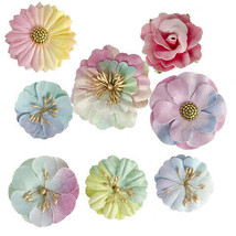 Darice Watercolor Floral Embellishment: 8 pieces w - $6.99
