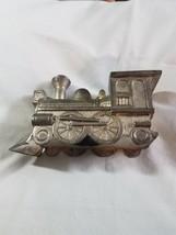 Steam Engine Locomotive Piggy Coin Bank Metallic - $6.92