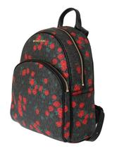 Black Red ABBEY Floral Backpack - $505.00
